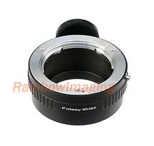 Adapter 4 Minolta MD Lens to Sony NEX Tripod Ring a6000 a5100 a5000 a3500 a3000