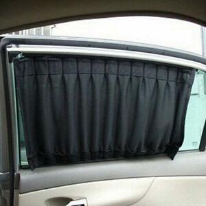 2PCS Black Car Accessories Auto Sun Shade Side Window Curtain UV Protection