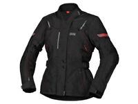 iXS Textiljacke Damen Liz-ST   Schwarz-Rot   Wasserdichte Motorradjacke aus P...
