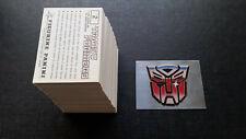 *** Panini Transformers Stickers ( 1986 ) ***