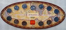 1999 Canada Millennium 25-Cent Quarter 12 PL Coins Medallion Set in Beauty Card