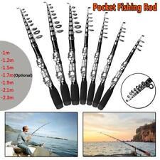 Mini Portable Telescopic Fishing Rod Pocket Pen Shape Reel Line Lures Combo Kit