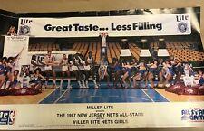 Vintage Miller Lite Nets All Stars Nets Girls Fine Pilsner Beer 1987 Nba Poster