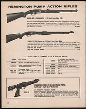 1980 REMINGTON 572 A Fieldmaster and BDL Deluxe Rifle XP-100 Pistol AD