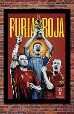 2018 World Cup Soccer Russia | TEAM SPAIN Poster | 13 x 19 inches