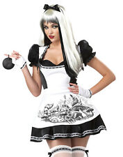 Dark Alice In Wonderland Evil Princess Sexy Womens Fancy Halloween Costume S