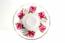1 sotto piatti PRINCESS ROSES ROSE Inghilterra BONE CHINA Queen Anne BORDO ORO 8605