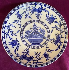 Antique Early Victorian Wedgwood  19th Blue White Saucer Plate 16.5cm