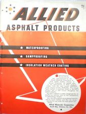 ALLIED Materials Waterproofing Dampproofing Catalog ASBESTOS 1945