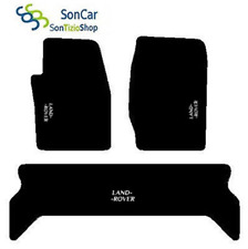 TAPIS LAND ROVER DISCOVERY2 98-01 SUR MESURE broderie : land Rover blanc+4 Bloc