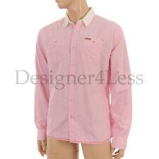 Firetrap Slim Long Sleeve No Pattern Men's Casual Shirts & Tops