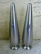 Vintage Danish Modern Salt and Pepper Shakers Stainless Steel