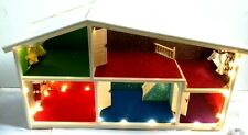 Vintage Customized Six Room Lundby Dolls House with String Lights - VGC