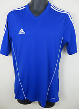 Adidas Mens Football Shirt Sports Training Gym Soccer Jersey Blue M Medium
