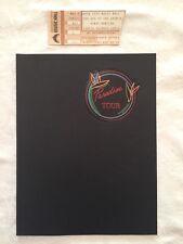 Barry Manilow, Paradise Tour, Tour Program, Ticket Stub, 1984, Radio City