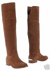 Michael Kors bottes Regina Flat Boot Suede Dk. Caramel taille 37 NEUF