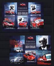 Guinea Bissau 2013 - Enzo Ferrari - Sportwagen - F70 - 288 GTO - F12 Berlinetta