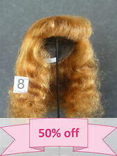 DISCOUNT 50% - Human Hair DOLL WIG size 12.4 (31.5 cm). Long red-brown hair.
