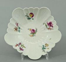 (M1686) Barocke mehrpassige Meissen Schale, um 1765, Blumendekor, 1.Wahl