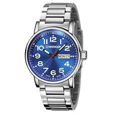Wenger 01.0341.105 Men's Attitude Blue Dial Stainless Steel Swiss Wrist Watch