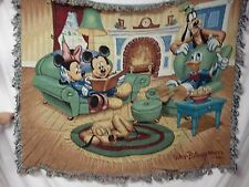 USA Made NWT Walt Disney World Scene Tapestry Throw Blanket Afghan #324