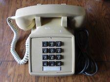 Vintage Northern Telecom  ITT 2500 Desk Telephone, Tan Ivory Beige, Working