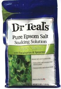 1 Dr. Teals Pure Epsom Salt Soaking Solution Eucalyptus & Spearmint Relax 3lbs
