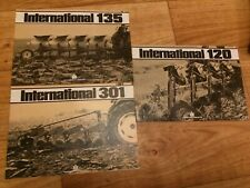 International 301,120,135 Plough's Sales Brochures Case, Tractor  Barn Find