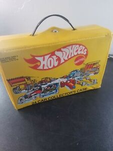 1983 Mattel HOT WHEELS Yellow 24 Car Collector's Carrying Case