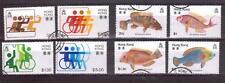 HONG KONG 1981 fish + 1982 sport sets used