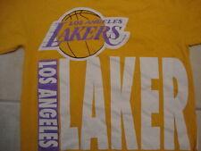 NBA Los Angeles Lakers Logo Yellow T Shirt Size M