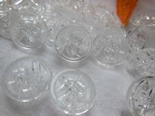 lot 10 boutons anciens en verre travaillé à pied diamètre: 1,4 cm ref 1040