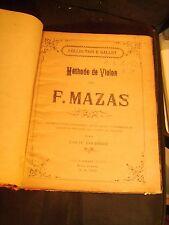 Méthode de violon de F. Mazas par Louis Fournier - Collection E. Gallet