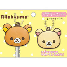 SAN-X Authentic Kawaii Rilakkuma & Korilakkuma Japan Bear Key Cover Pair