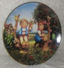 """Mj Hummel Apple Tree Boy and Girl 8.5"""" Collect Plate Me3523 Companion Limited Ed"""