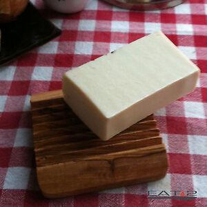 Soap Dish Olive Wood Soap Tray Wood Tray Bowl + Natural Soap