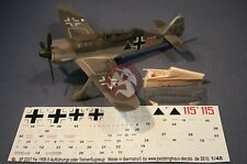 Peddinghaus 1/48 Fw 190 S-5 2-Seater Trainer Plane Conversion and Markings 2274