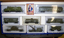 HO MILITARY US ARMY GP-20 LOCO  7 CARS  W/LOADS TRAIN SET  US ARMY # RRGP-025