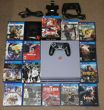 Sony Playstation 4 PS4 Pro 6.72 CUH-7015B 1TB SSHD Bundle 16 Games 2 Controllers