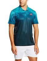 adidas Adizero Polo Sizes M-XL Green/Blue RRP £40 BNWT AI0719