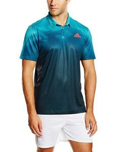 adidas Adizero Polo Sizes M-XL Green/Blue RRP £40 BNWT AI0719