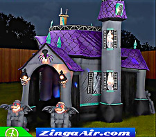 Halloween 25'x20'x15 Inflatable Bounce House Castle Bar Slide Commercial Haunted