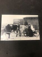 real photo postcard Building The Great West Homestead Pioneer Card Repro  I01