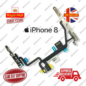 iPhone 8 Power Flex Cable Volume Buttons Mute Switch Mic & Flash With Brackets
