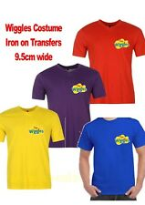 The Wiggles Logo IRON ON TRANSFERS 4 Pack - 9.5cm wide WIGGLES COSTUME wiggle