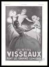 1933  Visseaux Lamp light garland bulb young women dancing Vintage Print Ad - Z1
