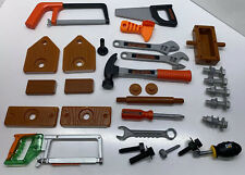 Black And Decker Toy Tool Hammer Wrench Saw Lot plus Extras