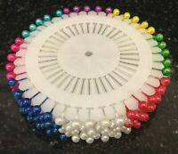 PEARL HEAD PINS UPHOLSTERY DRESSMAKERS SEWING PINS CRAFTS Choose Quantity