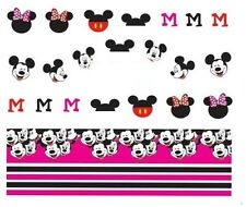 NAIL Art Decalcomanie Transfers Adesivi Mickey & Minnie Mouse (A-379)