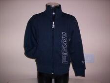 Maglia felpa Freddy bimba bambina giacca jacket giubbino zip cotone blu S 8 anni